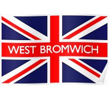 West Bromwich UK Flag Poster