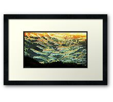 Something Fishy in the Air Framed Print
