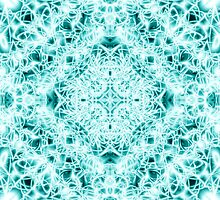 """""""Spirit of India: Magic Diamond"""" in white and blue-turquoise by FireFairy"""