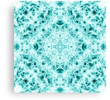 """Spirit of India: Magic Diamond"" in white and blue-turquoise Canvas Print"
