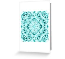 """Spirit of India: Magic Diamond"" in white and blue-turquoise Greeting Card"
