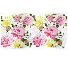 Elegance floral pattern. Spring mood. Poster