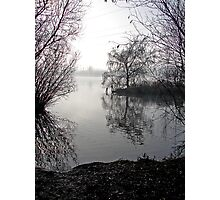Misty Lake Photographic Print