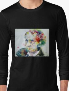 BAUDELAIRE - watercolor portrait Long Sleeve T-Shirt