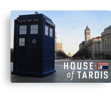 House of TARDIS Canvas Print