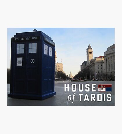 House of TARDIS Photographic Print