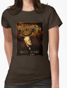 Steampunk Jules Verne Womens Fitted T-Shirt