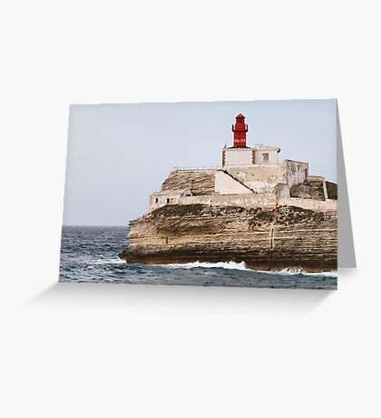 lighthouse in south Corsica Greeting Card