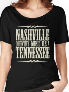 Nashville  Tennessee Country Music Women's Relaxed Fit T-Shirt