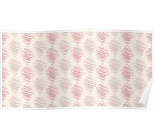 Luxury pink ornamental pattern Poster
