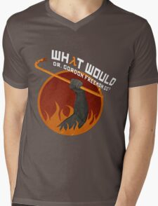 What would Dr. Gordon Freeman do? - Half Life Mens V-Neck T-Shirt