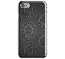 Black luxury ornamental wallpaper iPhone Case/Skin
