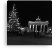 Brandenburg Gate sw Canvas Print