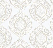Luxury ornamental floral wallpaper by LourdelKaLou