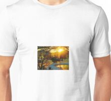 Snowy Winter Sunrise Unisex T-Shirt