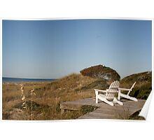 Adirondacks at the Beach Poster