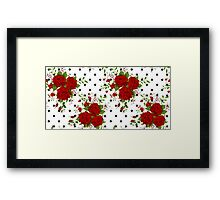 Pattern with abstract red flowers. Rose vintage background Framed Print