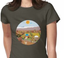 Peaceful Arab village In the desert Womens Fitted T-Shirt
