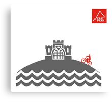 East Peak Apparel - Coast and Castle - Mountain Bike T-Shirt Canvas Print