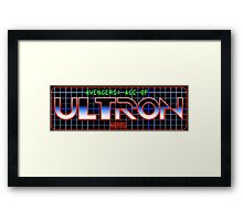 Avengers: Age of TRON Title Framed Print