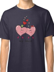 """Drawing """"Hearts in Love"""" Classic T-Shirt"""