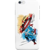 Captain America in action iPhone Case/Skin
