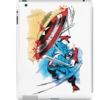 Captain America in action iPad Case/Skin