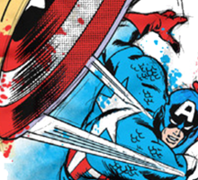 Captain America in action Sticker