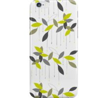 Abstract pattern with green leaf. iPhone Case/Skin