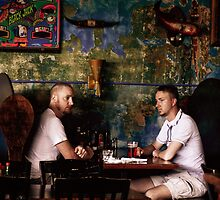 Twins in a Booth by bhusullivan