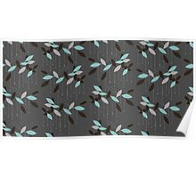 Abstract seamless pattern with leaves Poster