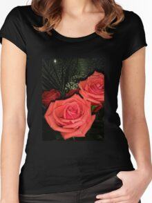 Roses 3 Women's Fitted Scoop T-Shirt
