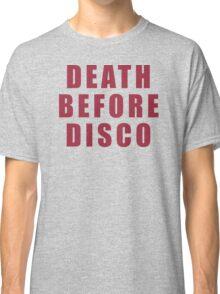 "Death Before Disco - ""Stripes"" Classic T-Shirt"