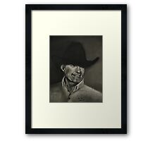 """George Strait""... prints and products Framed Print"