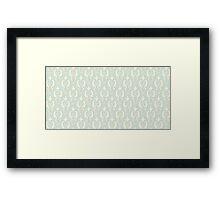 Vintage wallpaper. Delicate veil-like pattern. Framed Print