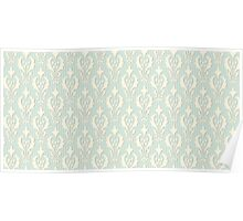 Vintage wallpaper. Delicate veil-like pattern. Poster
