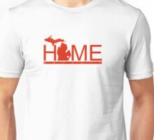 Michigan Home Red Wing Red Unisex T-Shirt