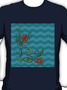 Abstract colorful floral ornament 2 T-Shirt