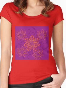Abstract colorful floral ornament 3 Women's Fitted Scoop T-Shirt