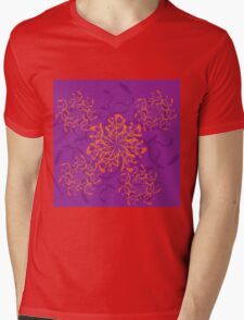 Abstract colorful floral ornament 3 Mens V-Neck T-Shirt