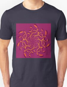 Abstract colorful floral ornament 4 T-Shirt
