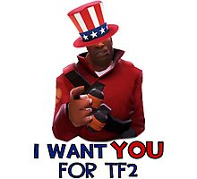 I WANT YOU FOR TF2 (Team Fortress 2 Soldier Uncle Sam) Photographic Print