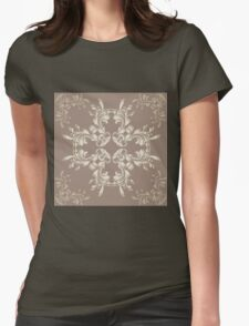 Abstract colorful floral ornament 7 Womens Fitted T-Shirt