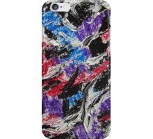 Colorful Abstract Art, Mixed Media, Contemporary Art Design iPhone Case/Skin