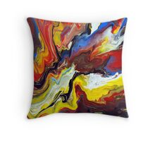 Explosive Abstract Painting Throw Pillow