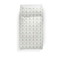 Beige and blue luxury ornamental pattern Duvet Cover