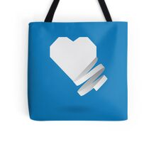 Paper heart with ribbon Tote Bag