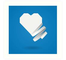 Paper heart with ribbon Art Print