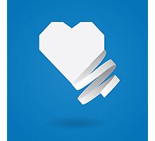 Paper heart with ribbon Photographic Print