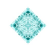 """Spirit of India: Magic Diamond"" in white and blue-turquoise Photographic Print"